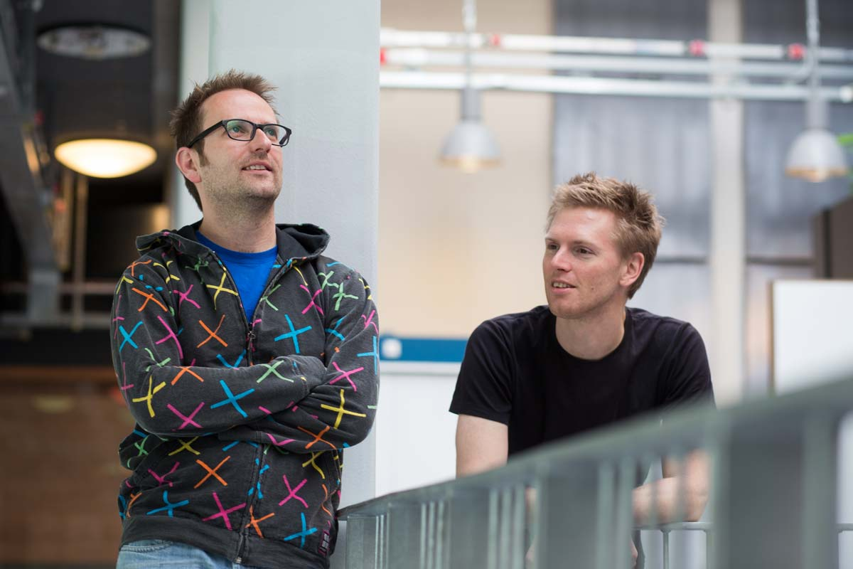 FabFilter founders Floris Klinkert (left) and Frederik Slijkerman